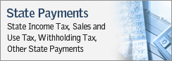 State Payments - State Income Tax, Sales and Use Tax, Withholding Tax, Other State Payments
