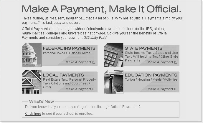 Official Payments - Pay Taxes, Utility Bills, Tuition & More Online